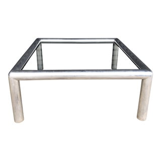 Vintage Tubular Aluminum Coffee Table For Sale