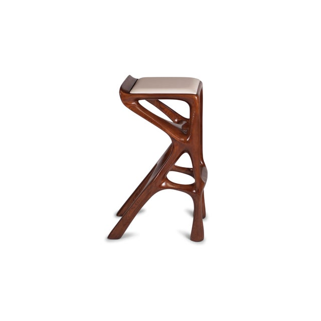 Amorph Amorph Chimera Bar Stool, Stained Walnut For Sale - Image 4 of 13
