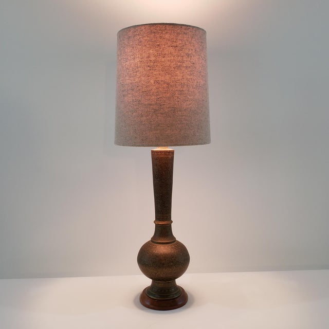 Mid-Century Arabesque Brass Lamps - a Pair For Sale - Image 12 of 13