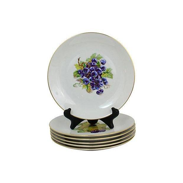 Ceramic Vintage Dessert Plates- Set of 6 For Sale - Image 7 of 9