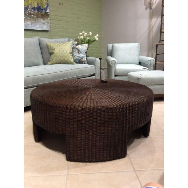 Hickory Chair Wicker Round Coffee Table - Image 2 of 4