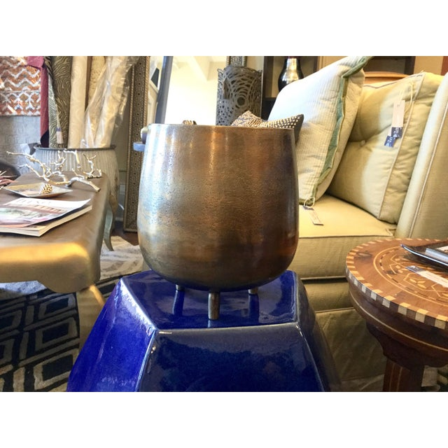 Large Bronze Colored Cache Pot - Image 2 of 6