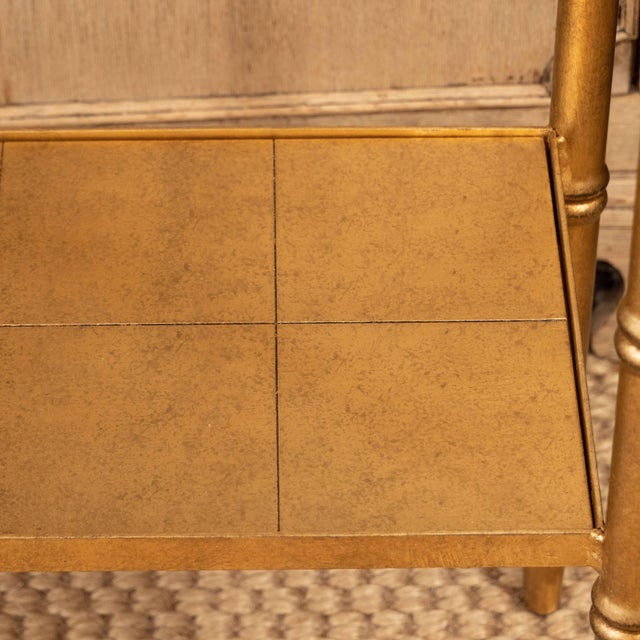 Contemporary Gold Console Table For Sale - Image 3 of 10