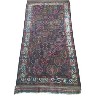 "Antique Tribal Rug 6'10"" X 3'5"" For Sale"