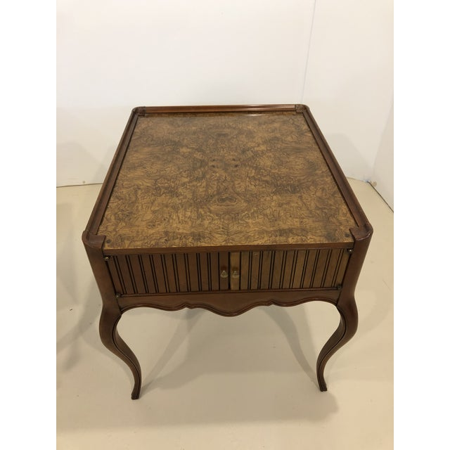 Vintage Baker Furniture Mahogany and Burl Wood Side Tables - Pair For Sale In Houston - Image 6 of 12