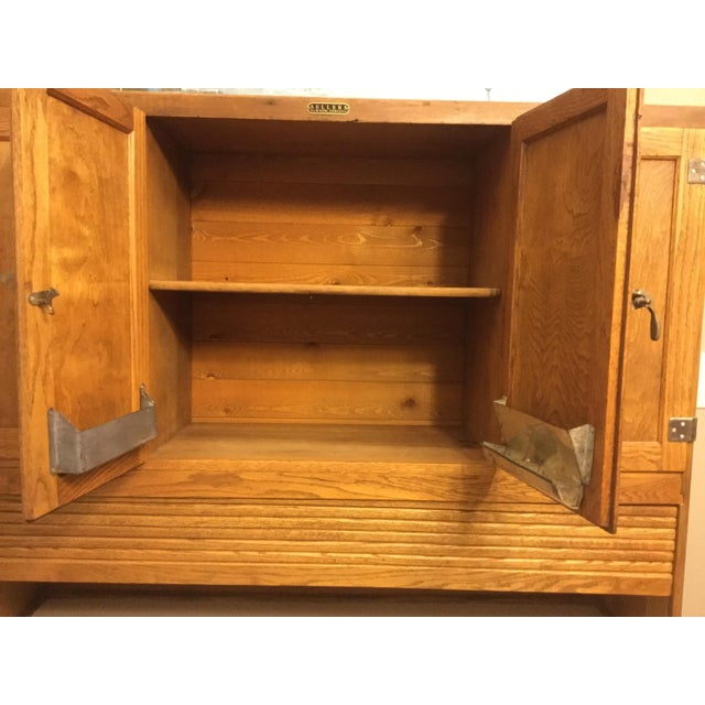 Oak Sellers Kitchen Hutch For Sale - Image 4 of 6