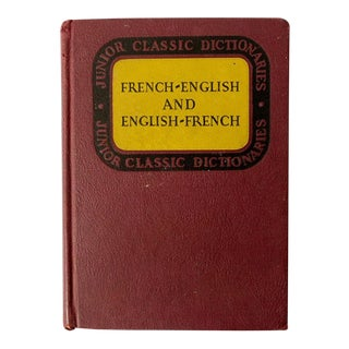 1940s Vintage French-English Dictionary For Sale