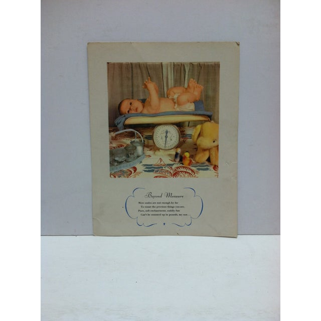 """Vintage Color Print on Paper, """"Beyond Measure"""", Circa 1940 For Sale - Image 4 of 4"""
