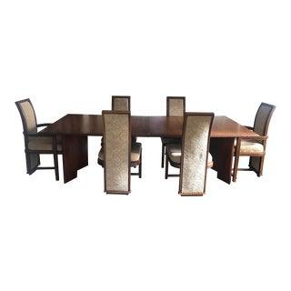 Frank Lloyd Wright Henredon Taliesin Mahogany Dining Set For Sale