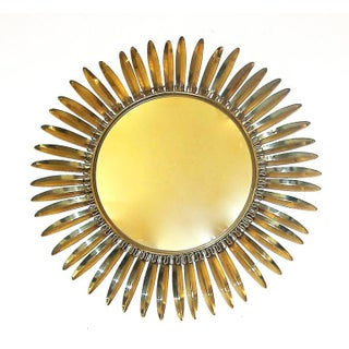 French Brass Soleil or Sunburst Convex Wall Mirror Preview