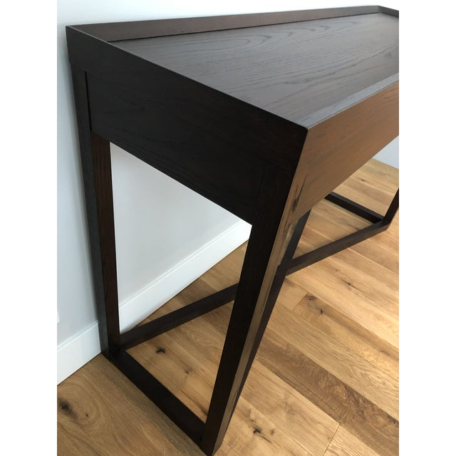 Oak Modern Calvin Klein Console Table With Storage For Sale - Image 7 of 12
