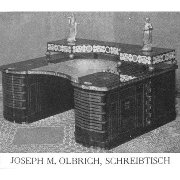 Jugendstil Desk after Olbrich For Sale - Image 4 of 7