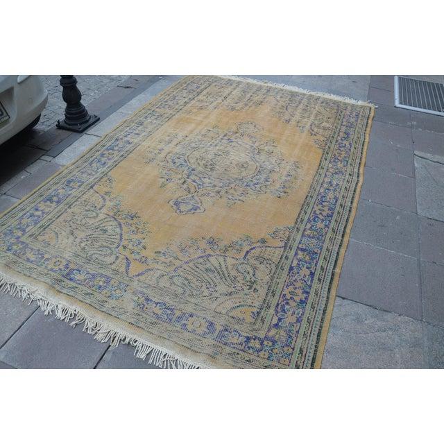 "Islamic Oversize Oushak Antique Faded Rug - 6'2"" x 9'2"" For Sale - Image 3 of 6"