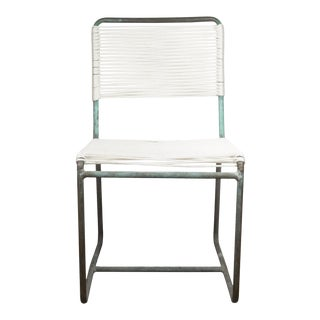 Walter Lamb for Brown Jordan Bronze Re-Roped Patio Dining Chair For Sale