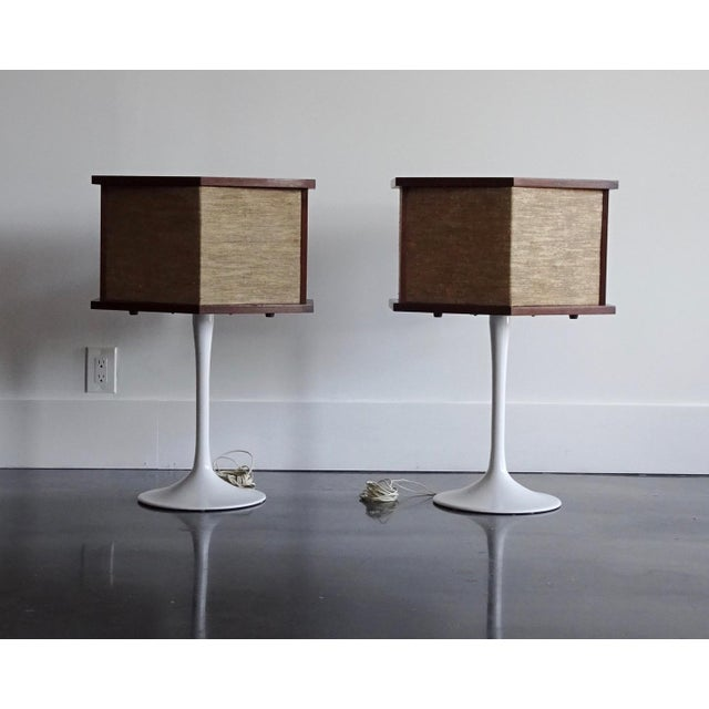 1970s Vintage Bose Speakers on Pedestal Tulip Bases - a Pair For Sale - Image 11 of 12