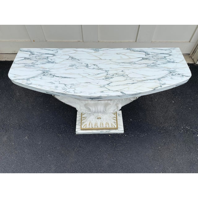 Grosfeld House Grosfeld House Scallop Shell Console Table For Sale - Image 4 of 13