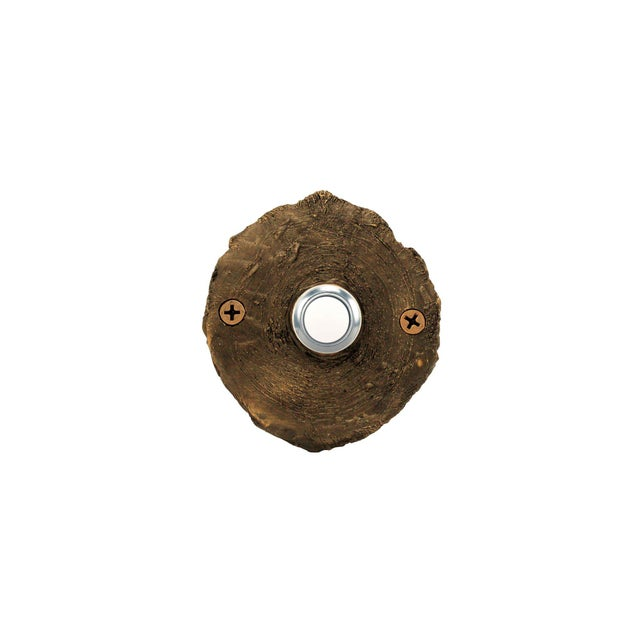 Not Yet Made - Made To Order Log End Classic Doorbell, Traditional Patina For Sale - Image 5 of 5