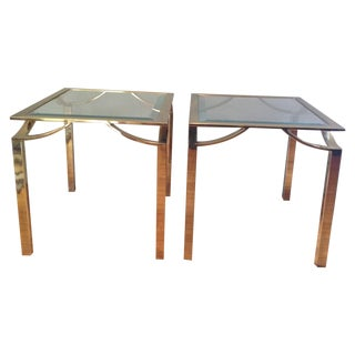Hollywood Regency Side Tables - Pair