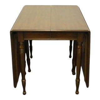 Pennsylvania House Solid Cherry Traditional Style Drop-Leaf Dining Table For Sale