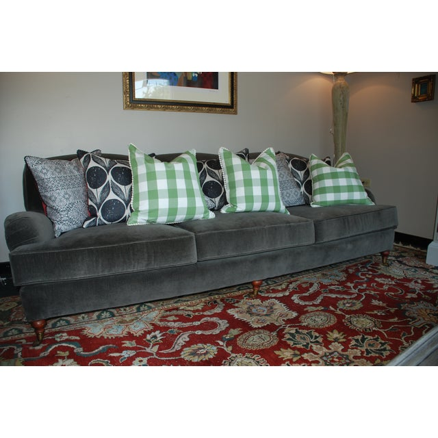 Ralph Lauren Home Langholm Gray Velvet Sofa - Image 4 of 5