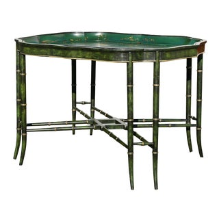 Victorian Papier Mâché Tray Top Coffee Table