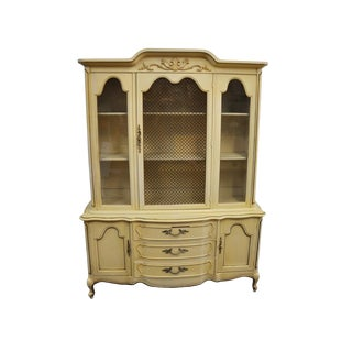 1965 Vintage Queen Anne Library Cabinet For Sale