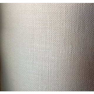 Oyster White Belgian Linen Fabric For Sale