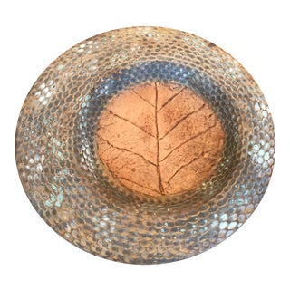 1980s Rustic Toyo Pottery Plate For Sale