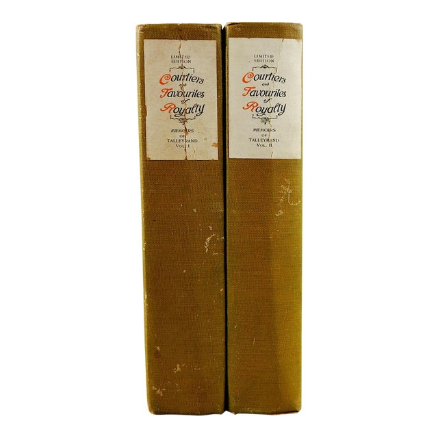 Courtiers and Favourites of Royalty, Memoirs of Talleyrand 2 Volumes - Image 1 of 7