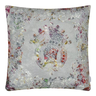"Kenneth Ludwig Chicago Osaria Dove Linen 22"" Pillow For Sale"
