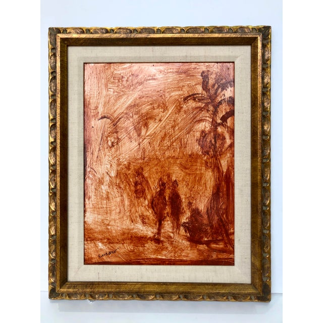 Mid 20th Century Pascal Cucaro Mid-Century Oil Painting on Board, Framed For Sale - Image 5 of 5