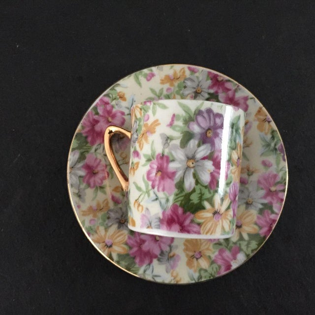 Vintage Cottage Style Demitasse Cup and Saucer - 2 Pc. For Sale - Image 4 of 6