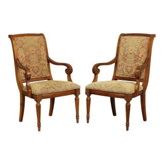 Ethan Allen Townhouse Modern Addison Dining Armchairs - a Pair For Sale