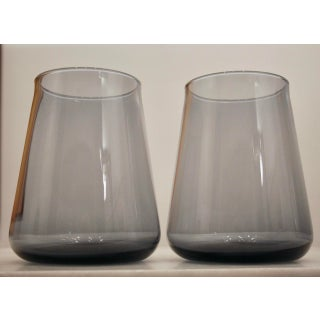 Blue Scandinavian Minimalist Vases, a Pair Preview