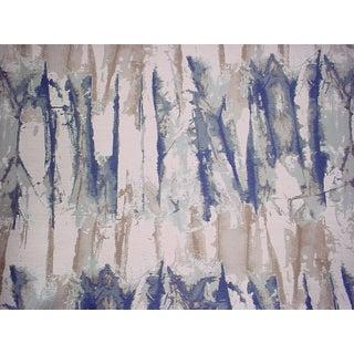 4-5/8y Zoffany Harlequin 131369 Takara Indigo Denim Drapery Upholstery Fabric For Sale