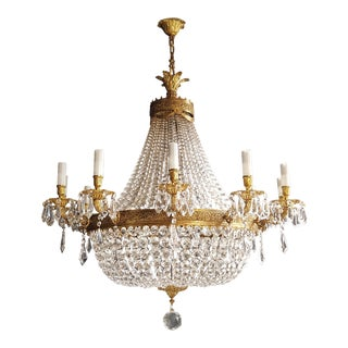 Xxl Huge Montgolfièr Empire Sac a Pearl Chandelier Crystal Lustre Ceiling Lamp For Sale