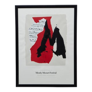 Late 20th Century Robert Motherwell Lincoln Center's Mostly Mozart Festival Print For Sale
