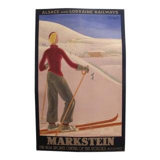 Original French Vintage Art Deco Travel Poster, Markstein For Sale