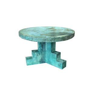 20th Century Brutalist Style Copper Coffee Table For Sale