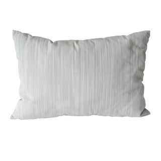 Light Blue Striped Pillow For Sale