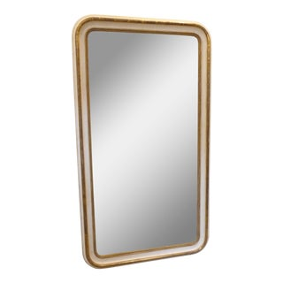 19th Century French Louis Philippe White & Gold Mirror For Sale