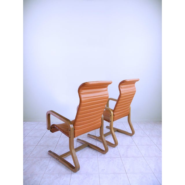 1960s Mid-Century Modern Thonet Bentwood Cantilever Lounge Chairs - a Pair For Sale - Image 5 of 10