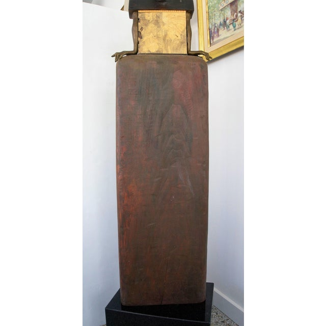 Vintage 2002 Cecilia Z Miguez Sculpture 6-Foot Bronze Wood Granite and Found Objects For Sale In West Palm - Image 6 of 13