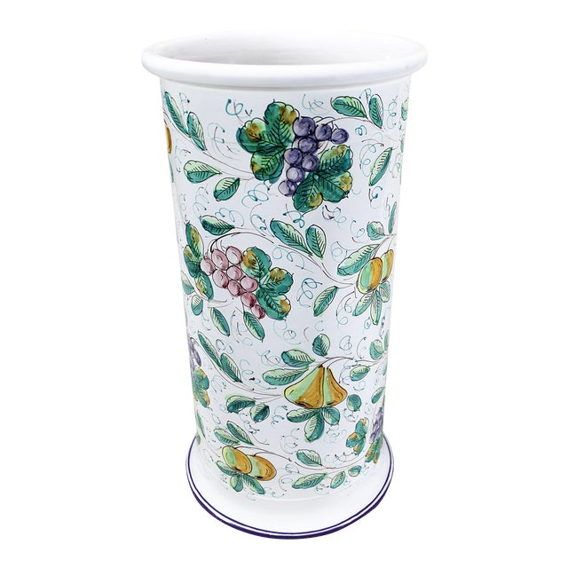 Vintage Italian Castelli Pottery Umbrella Stand Signed L. Pardi - Image 1 of 11
