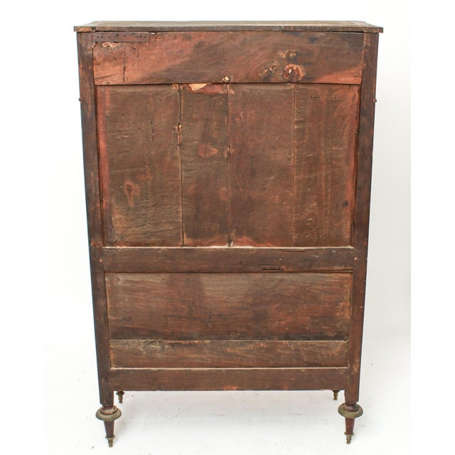 Late 19th Century Federal Style Mahogany Cabinet with Italian Marble Top For Sale In New York - Image 6 of 11