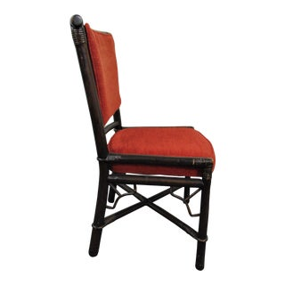 Ficks Reed Chinoiserie Style Rattan Side Chair For Sale