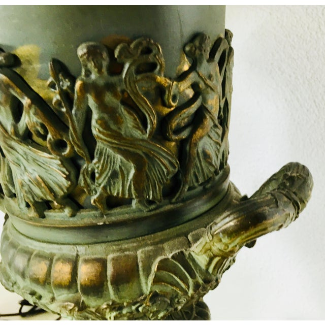 Mid-Century Classical Urn Lamps – a Pair For Sale - Image 4 of 12