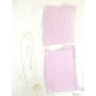 Shapes in Pink Contemporary Painting For Sale