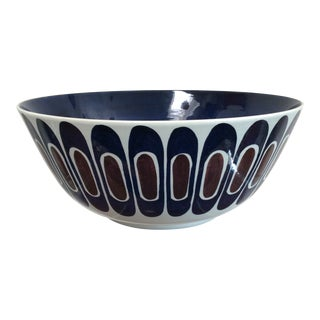 "Large Hand Painted Bowl by Inge Lise Koefoed for Royal Copenhagen ""Tenera"" Series For Sale"