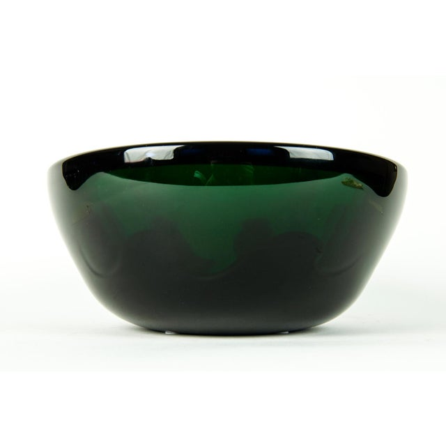 Glass Mid Century Art Deco Style Murano Deco Bowl For Sale - Image 7 of 7